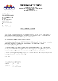 Company Offer Letter To Employee Guatemalago