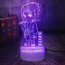 Đèn Ngủ Ảo Ảnh Quà Tặng Mới Lạ Hình Hoạt Hình Naruto Uchiha Sasuke Crack Cơ  Sở Cảm Ứng Từ Xa 7 Màu 3d Led Đèn Ngủ Acrylic - Buy Sắt Đèn