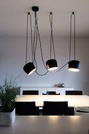 flos lighting soho. today we are featuring aim by flos. is a unique fixture because of the way it hangs. comes with excess cable which you can use to create d\u2026 flos lighting soho