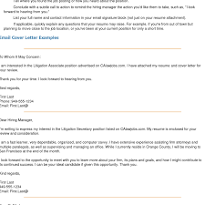 Resume Examples Templates 10 Emailing Resume And Cover Letter Sample
