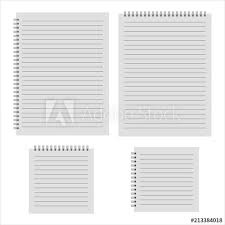 Notepad Template Realistic Notepad Template Buy This Stock Vector And Explore