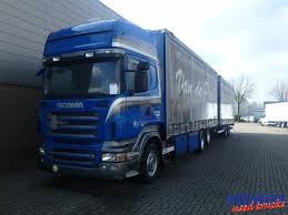 curtainsider truck scania r500 v8 euro 5 6x2 vanhool trailer picture 1