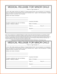 Medical Release Form Template As Well As Kids Medical - Traweln