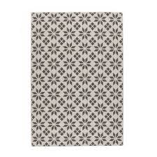 iswik flat weave rug with cement tile motif la redoute interieurs