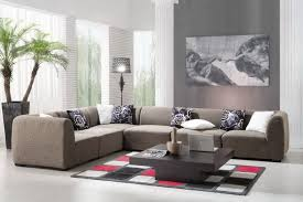 Living Room:Wonderful Living Room Design With Comfy Cream Corner Leather Sofa  Seat And Dark