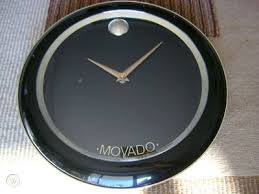 movado wall clock watch dealers display