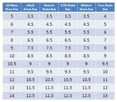 Nike Ice Skate Size Chart Ccm Skate Size Chart Bedowntowndaytona Com