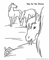 Horse Coloring Pages Printable Hay Is For Horses Coloring Page