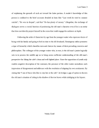 a clean well lighted place literary analysis essay reading group a clean well lighted place literary analysis essay