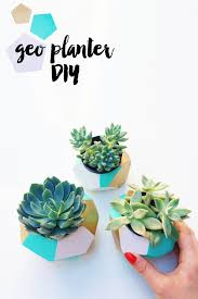 do it yourself office desk. Color Blocked Geo Planter DIY | LOVE PLUS COLOR Do It Yourself Office Desk H
