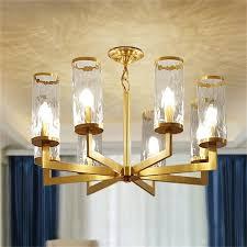 dutti d0054 led copper chandelier light for living room dining hall room bedroom american luxury lamp
