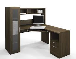 sleek office furniture. furniture sleek wooden computer corner desk with hutch and throughout glass drawers u2013 real wood home office e
