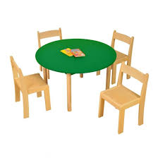 height adjule round table green