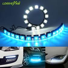 How To Install Flex Led Lights In Car Car Cob Led Drl Driving Fog Light Flexible Daytime Running