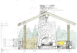 architectural drawings of houses. Pool House Sketch - Architectural Drawing / Rendering Diagram Drawings Of Houses E