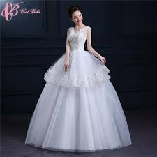 Cestbella Princess V Neck Sleeveless Cheap Slim Fit Ball Gown Plus