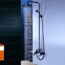 rubbed bronze shower head oil wall mount waterfall rain handheld faucet delta linden venetian 1 handle