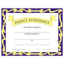 Free Attendance Certificate Template Printable Certificates