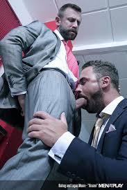Gay suit office bondage