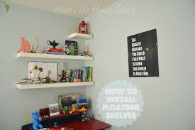 Easy To Install Floating Shelves How to Hang IKEA LACK Floating Shelf Whats Ur Home Story 87