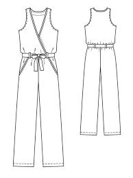 Jumpsuit Pattern Delectable Sleeveless Jumpsuit 4848 48 Sewing Patterns BurdaStyle