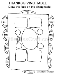 Printable Doodle Coloring Pages Thanksgiving Meal