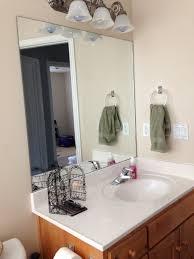 DIY Bathroom Mirror Frame Sawdust Sisters