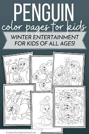 Little cute penguin with scarf coloring page for kids and adults vector. Free Printable Cute Penguin Coloring Pages For Kids