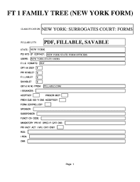 Nys Family Tree Chart Fill Online Printable Fillable