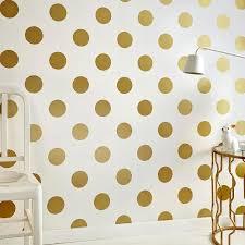 dotty gold cream polka dots kids wallpaper