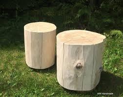wood stump furniture. Reclaimed Stump End Table- Large Size, Whitewashed Or Natural Finish, Wood Furniture