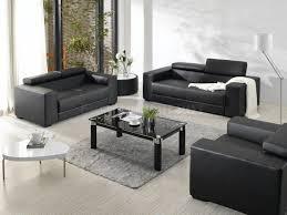 modern living room design ideas with black leather black modern living room furniture