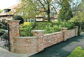 brick fence ideas brick fence brick garden wall designs smart homes design brickwork garden brick fence