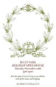 christmas open house flyer bluff park holiday open house the birmingham bride