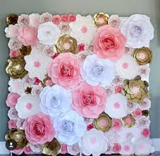 Paper Flower Decor Wholesale Ivory Artificial Paper Flowers Wall Backdrop Wedding