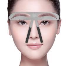 Oční šablona Permanent Make Up Tetování Obočí Tvar Pozice Pravítko Diy šablona Beauty Grooming Reusable Eyebrow Cosmetic Tool
