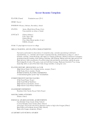 Soccer Resume For College Soccer Cv Example Besikeighty24co 2