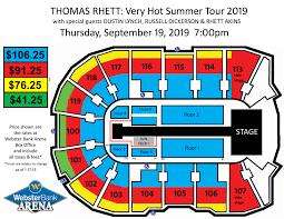 Bridgeport Webster Arena Seating Chart Thomas Rhett Webster Bank Arena