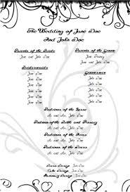 Wedding Programs Template Free Free Printable Wedding Program Templates Madinbelgrade