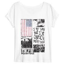 Panel Shirt Design Ladies Rock Shop Ladies Sheer Panel Flag Tee Pigeon Forge
