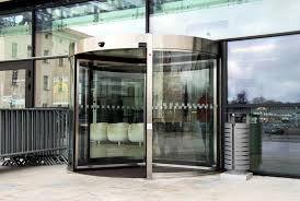 the business carousel type revolving door is manufactured in diameters from 2 000 to 3 600 mm and is suitable for busy entrances to office buildings