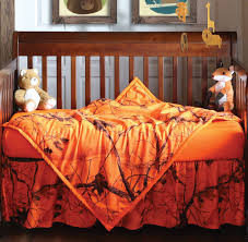 orange blaze realtree ap camo crib set 3 pcs