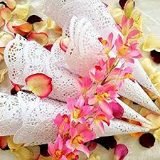 How To Make Paper Cones For Flower Petals Amazon Com Prerolled Wedding Confetti Cones Set Of 150 Paper Cones