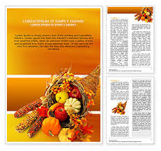 Thanksgiving Word Template Design Id 0000000721