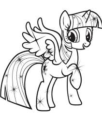 Small Picture My Little Pony Coloring Pages Princess Twilight Sparkle Alicorn