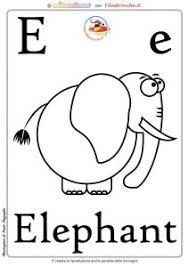 Schede Alfabeto Inglese Da Stampare Lettera E Filastroccheit