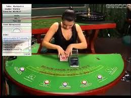 Online Casino Black Jack Dealer Kristine Proceeding To Change Cards