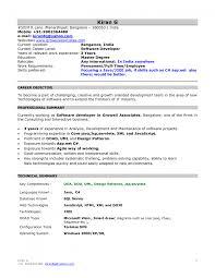 Resume Headline For Fresher Mca Proffesional Freshers Samples