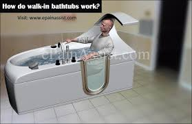 how do walk in bathtubs work