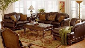 Modern Living Room With Brown Leather Sofa Brown Leather Furniture Youtube
